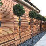 cercas de madera para patios modernos