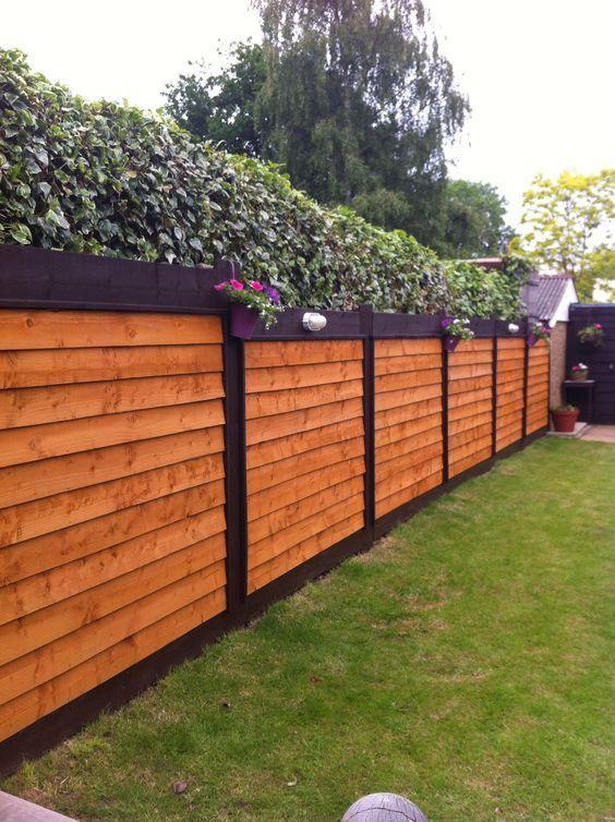 cercas de madera rustuca moderna para jardin