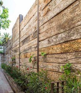 cercas madera reciclada