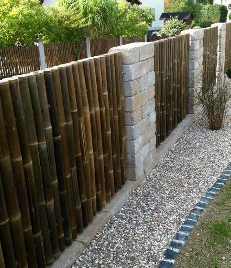 cercas modernas de bambu grueso