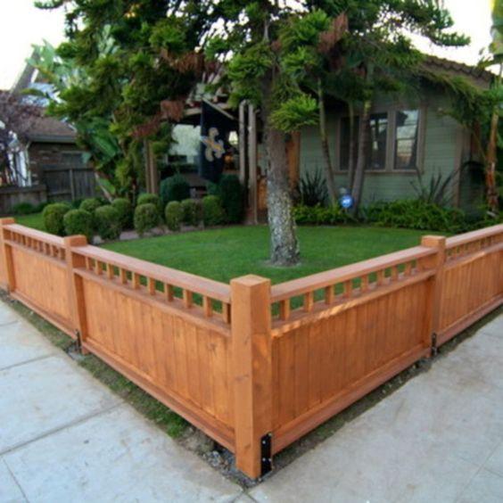 cercas para terreno bajas de madera