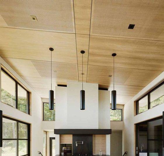 cielorraso con placas de pvc simil madera