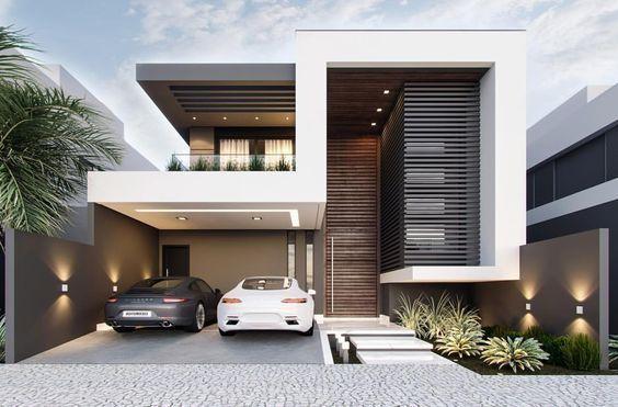 8 fachadas de casas modernas de dos pisos casa web for Casa de dos plantas construyehogar