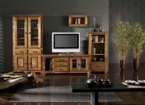 mueble colonial tv para sala de estar moderna