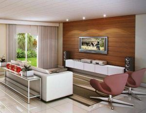 sala de estar con cieloraso de pvc blanco