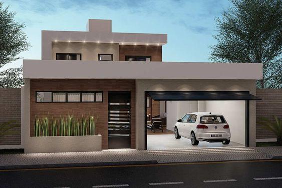 Fachadas de casas minimalistas y modernas casa web for Casa minimalista 90m2
