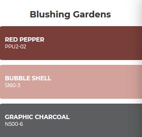 combinacion de colores inspirados en el jardin floreado