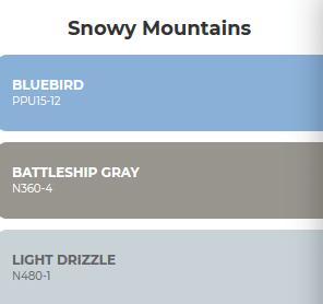 combinacion de colores inspirados en la nieve