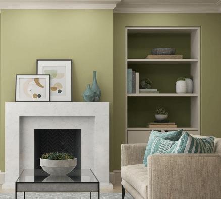 tendencia en decoraciones en tonos verdes