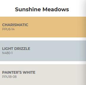 combinacion de colores inspirados en la pradera soleada