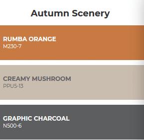 combinacion de colores inspirados en el otoño