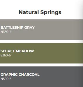 Combinacion de colores inspirados en la naturaleza y grises