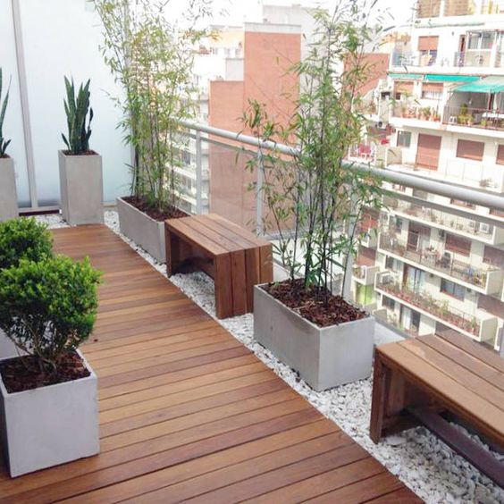 deck de madera para balcones moderno