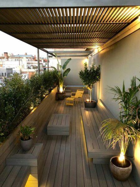 deck de pvc para balcones
