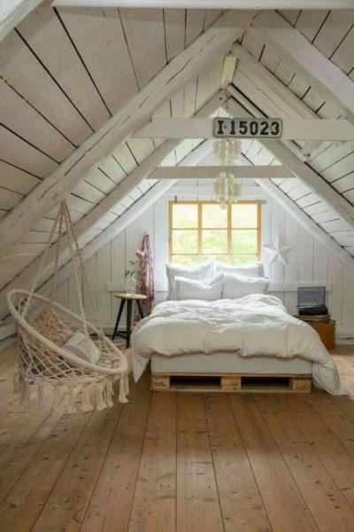 dormitorio rustico en el atico