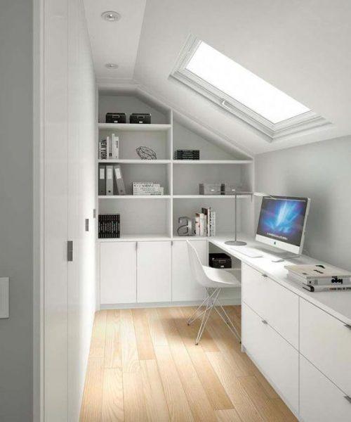 escritorio en atico moderno