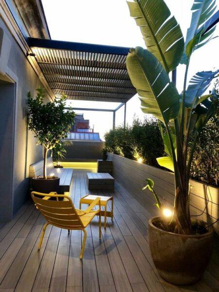 patio con deck de pcv