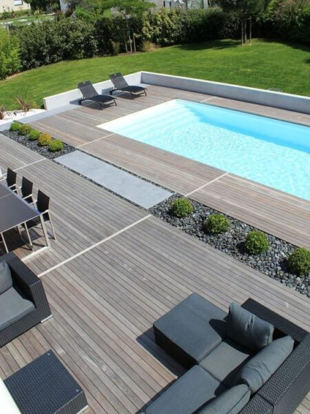 pisos deck para pileta de pcv moderno