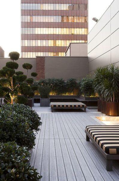 terraza con deck de pvc