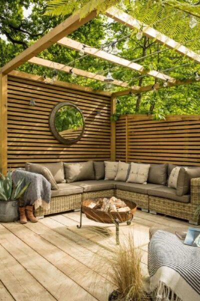 terrazas con deck de madera rustica