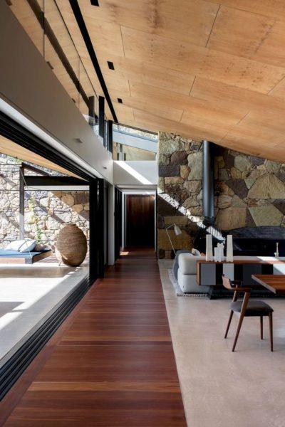 Cielos rasos modernos de madera terciada
