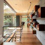 cielo razo moderno de paneles de madera terciada