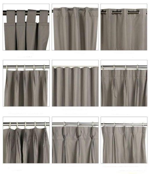 tipos de formas de colgar cortinas