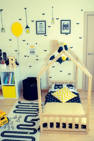 Cama estilo montessori para niños tematica