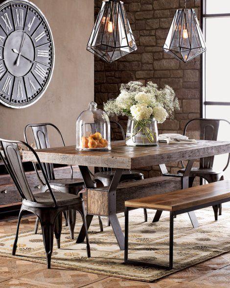 Mesa comedor estilo industrial moderno y rustico