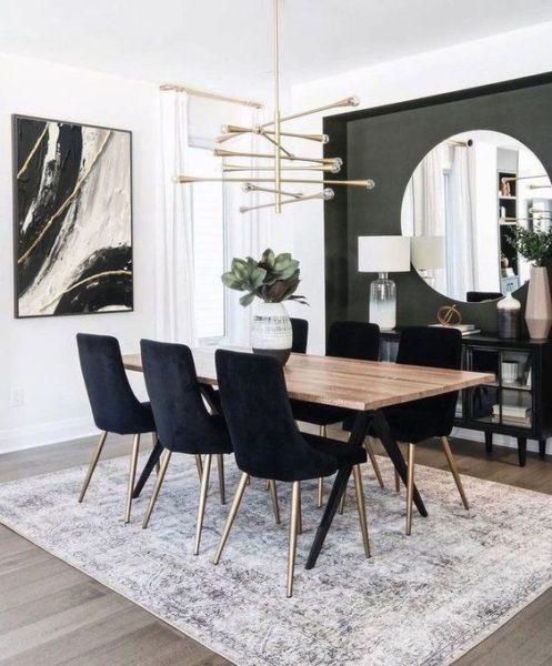 Mesa de comedor minimalista elegante