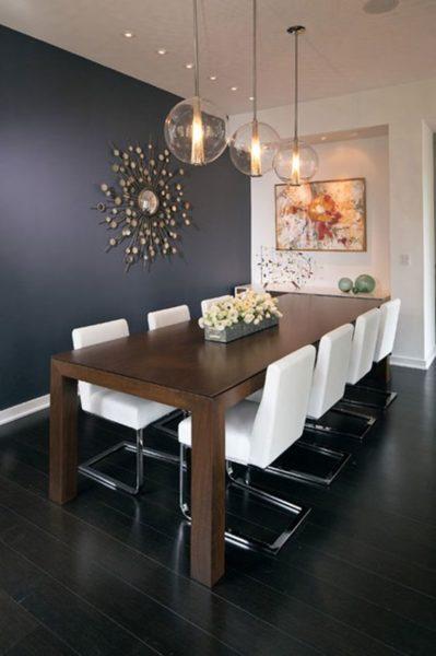 Mesa de comedor minimalista moderna de madera