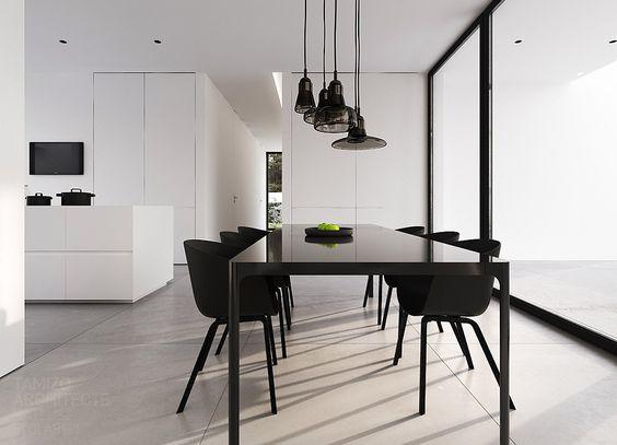 Mesa de comedor minimalista para 6 personas