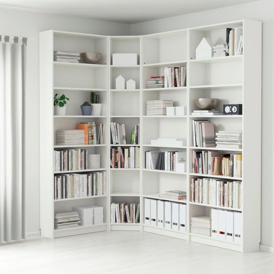 biblioteca modular minimalista