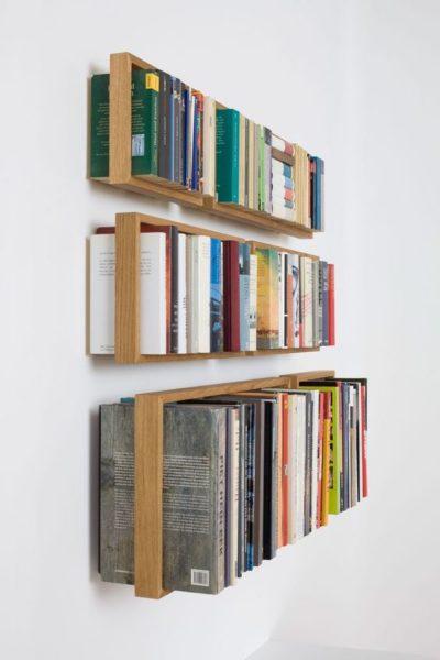 biblioteca pequeña flotante moderna