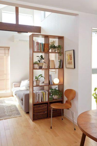 biblioteca separar ambientes de madera