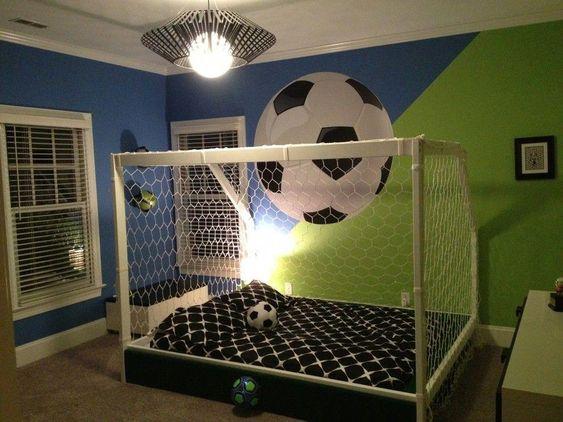 cama con arco de futbol