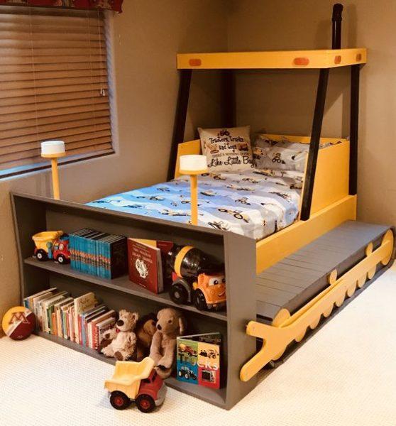 cama infantil tipo maquina