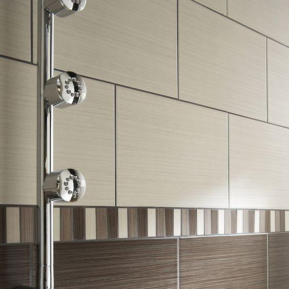 combinaciones de azulejos para pared de baño