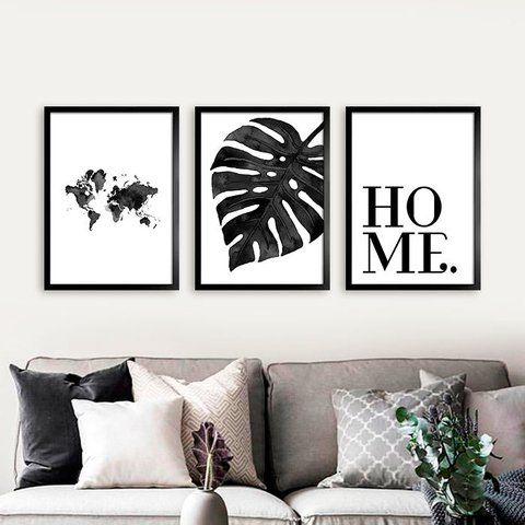 cuadros para living en blanco y negro