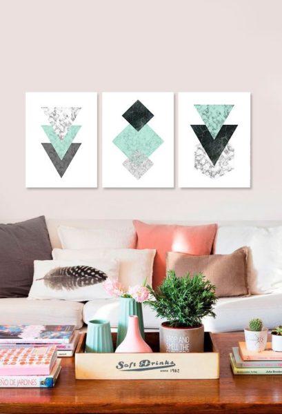 cuadros para living figuras geometricas