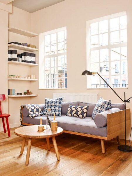 decoracion moderna con muebles retro