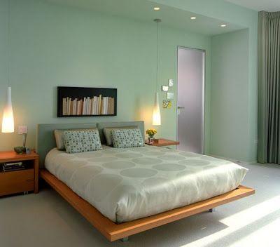 dormitorio moderno Verde agua