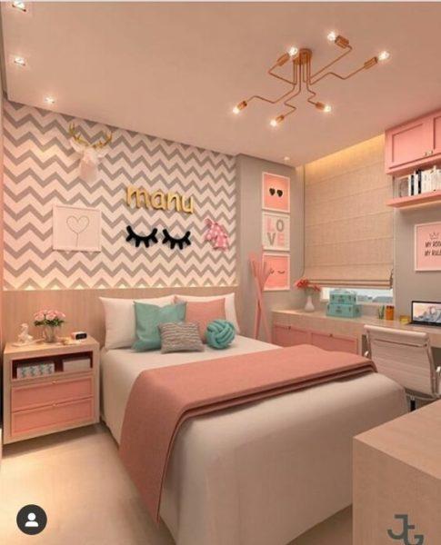 habitacion para niñas elegante y moderna