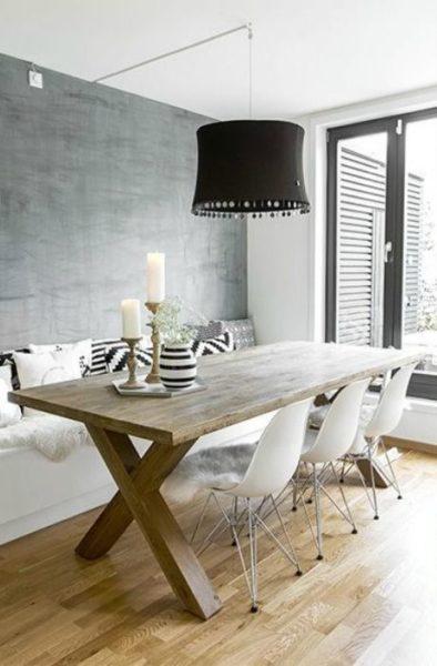 mesa de comedor de madera dura