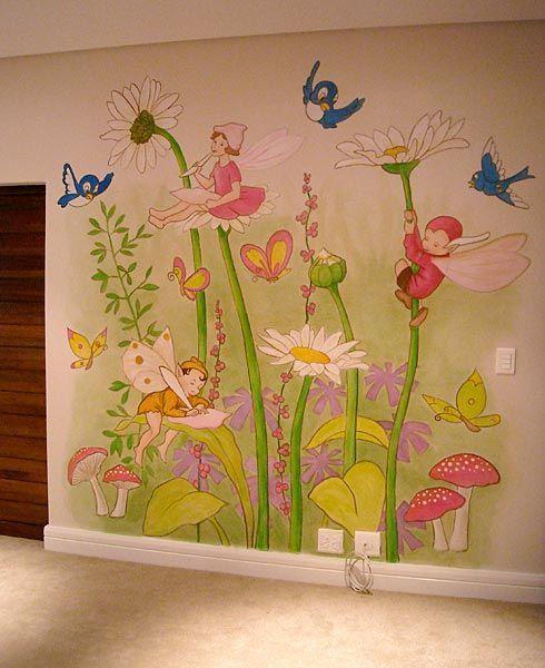 pegatinas con flores y hadas