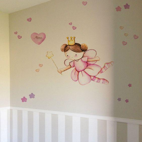 pintar mural para dormitorio de niñas
