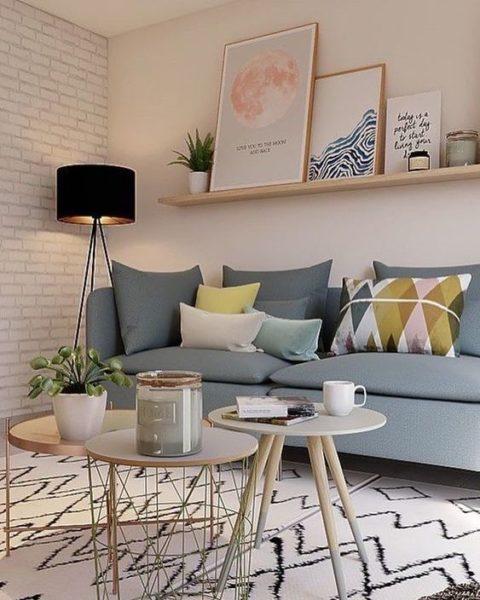 sala de estar pequeña estilo nordica