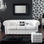 sofa rococo blanco en decoracion moderna