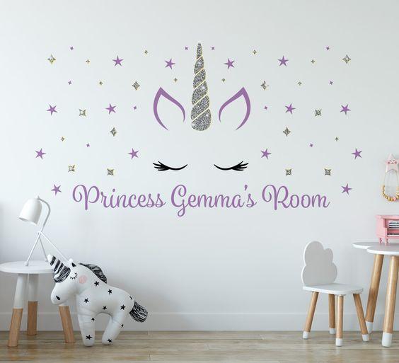 vinilo decorativo de unicornio
