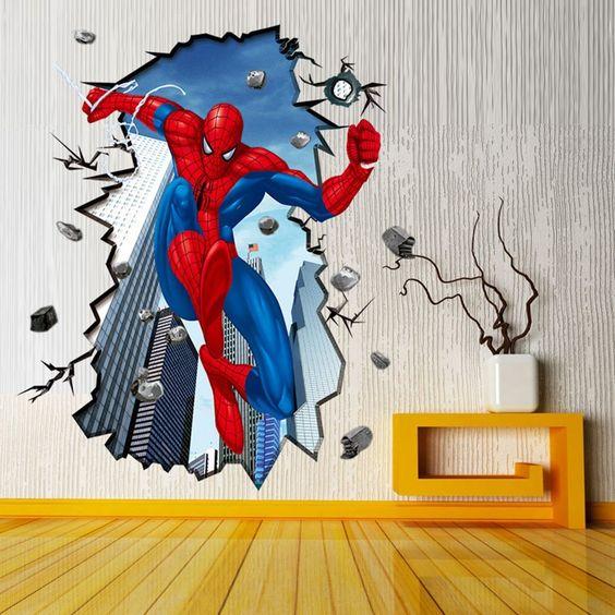 vinilo decorativo del hombre araña